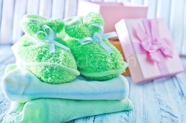 Baby ubrania wzrosła urodziny grupy chłopca Zdjęcia stock © tycoon