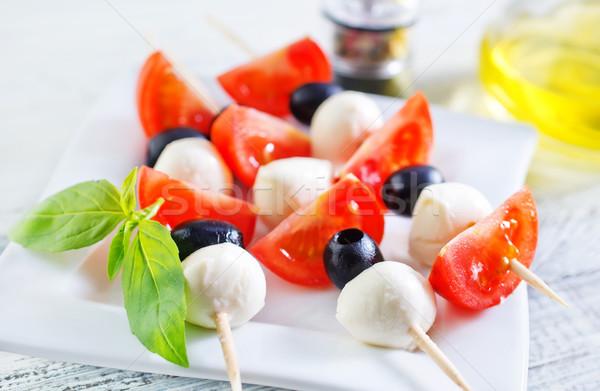 カプレーゼ 緑 油 赤 小さな サラダ ストックフォト © tycoon