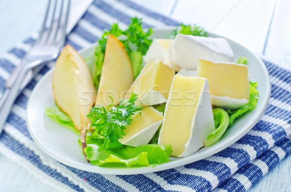 Camembert verde queso blanco bordo almuerzo Foto stock © tycoon