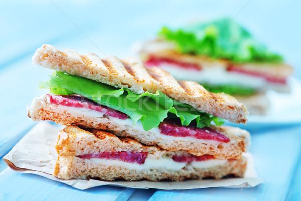 Sanduíches queijo presunto tabela casa comida Foto stock © tycoon