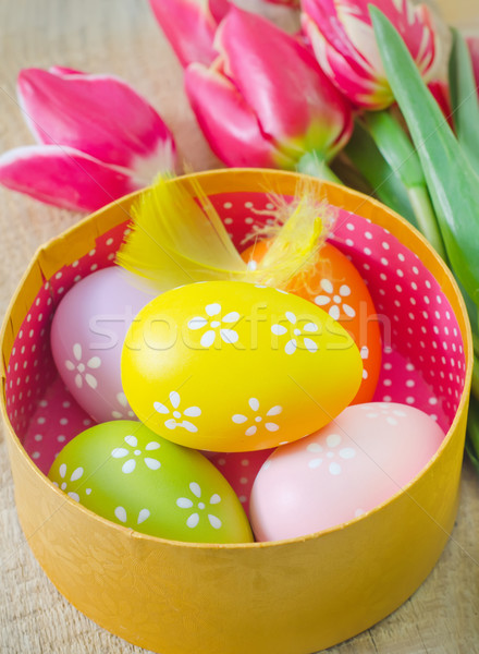 easter eggs Stock photo © tycoon