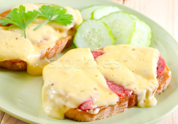 bread with cheese Stock photo © tycoon
