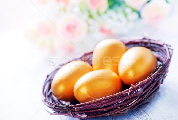 Stok fotoğraf: Dekoratif · boyalı · paskalya · yumurtası · tablo · Paskalya · gökyüzü