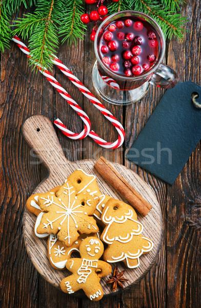 Noel kurabiye lezzet baharat plaka arka plan Stok fotoğraf © tycoon