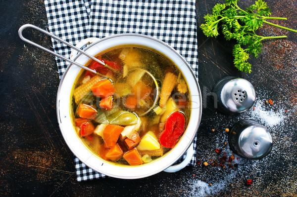 vegetable soup Stock photo © tycoon