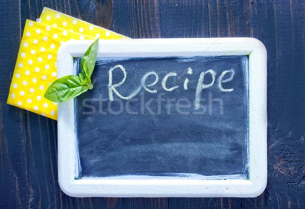 Tahta gıda depolamak bilgi beyaz Stok fotoğraf © tycoon