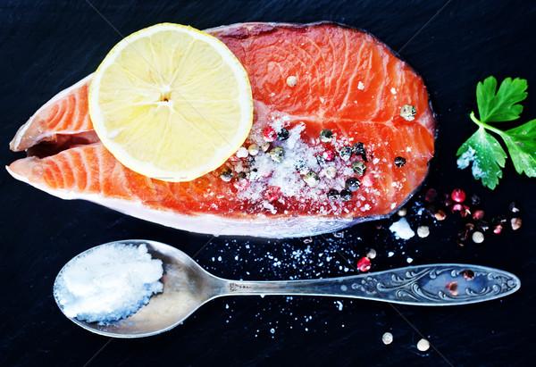 salmon steak Stock photo © tycoon