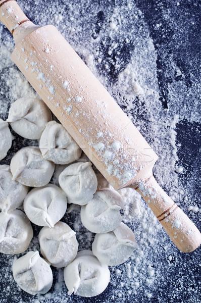 raw pelmeni Stock photo © tycoon