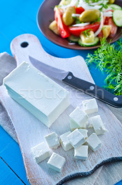 Fetasajt étel háttér sajt birka reggeli Stock fotó © tycoon