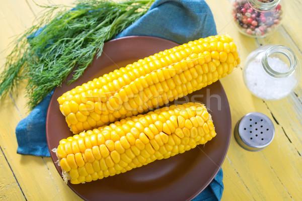 Csemegekukorica étel idő kukorica élet eszik Stock fotó © tycoon