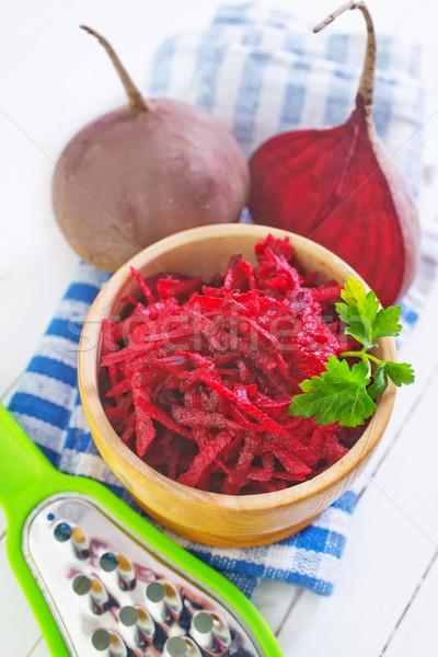 Salade saladeschaal tabel gezondheid keuken olie Stockfoto © tycoon