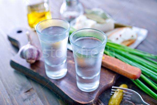 vodka, lard and cucumbers Stock photo © tycoon