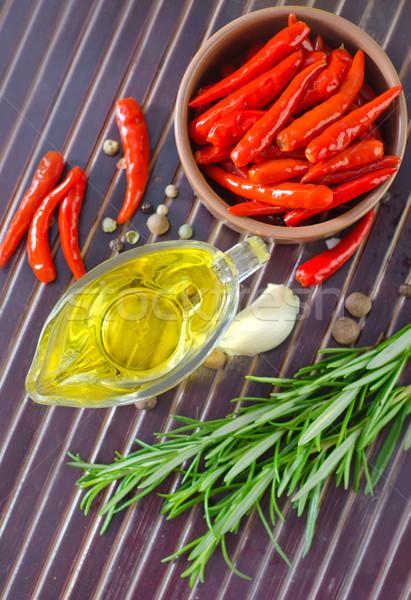 Lezzet baharat cam yağ bitki sıcak Stok fotoğraf © tycoon