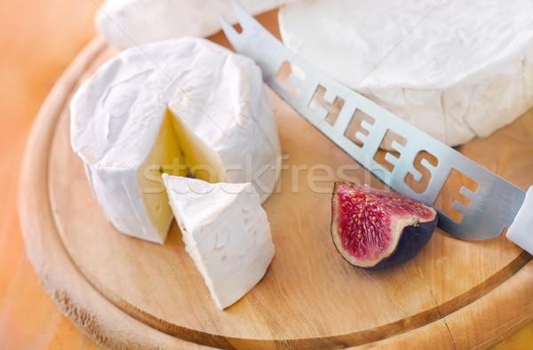 Camembert alimentos mesa queso blanco comer Foto stock © tycoon