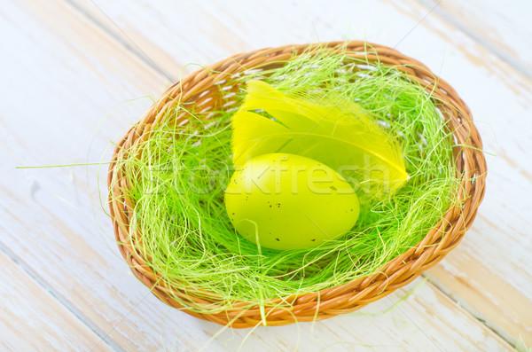 Paskalya yumurtası Paskalya gıda boya tablo renk Stok fotoğraf © tycoon