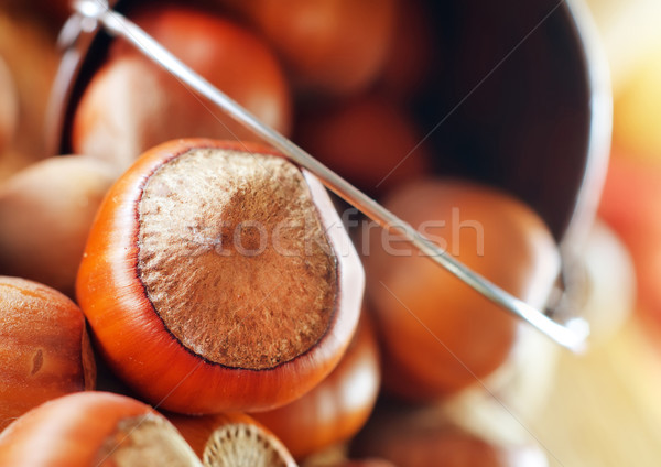 Mogyoró étel háttér csoport kagyló tárgy Stock fotó © tycoon
