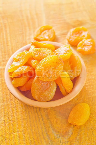 Sécher fruits fond orange plaque couleur Photo stock © tycoon