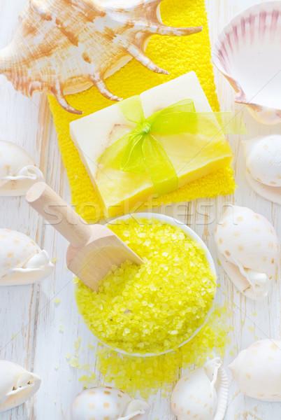 Sal marina mano salud medicina relajarse spa Foto stock © tycoon
