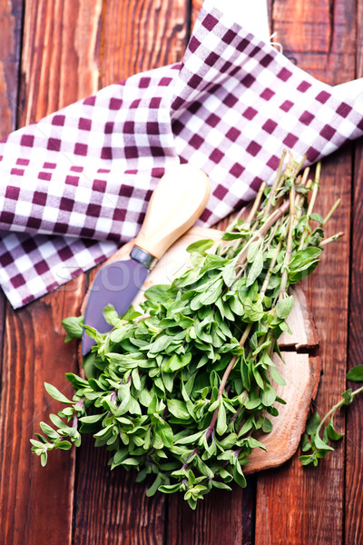 marjoram on a wooden rustic table Stock photo © tycoon