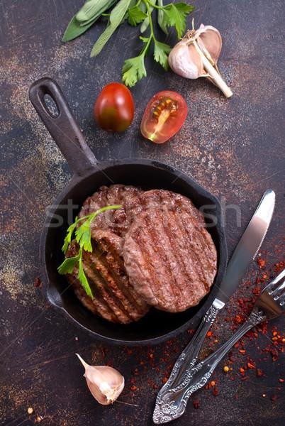 жареный Burger Spice складе фото продовольствие Сток-фото © tycoon