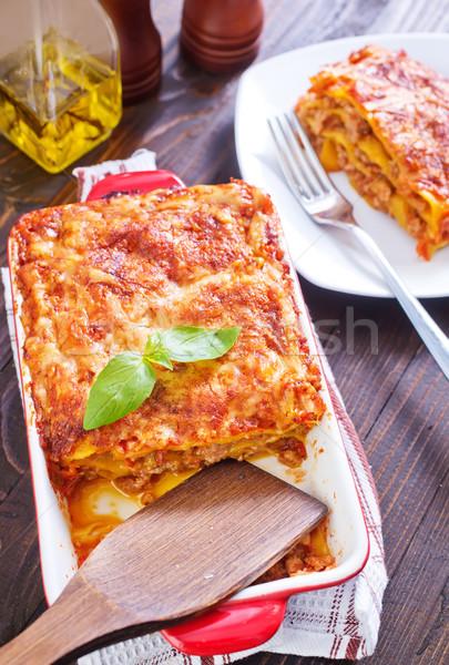 ラザニア チーズ パスタ 小麦 料理 ハーブ ストックフォト © tycoon