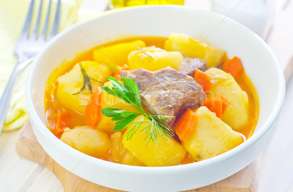 potato with sauce and meat Stock photo © tycoon