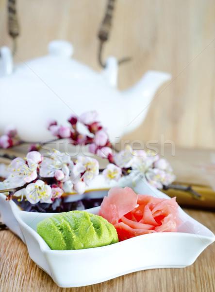Gyömbér egészség vacsora citrom ázsiai japán Stock fotó © tycoon