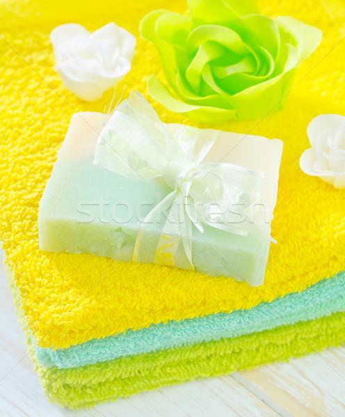 Stockfoto: Aroma · zout · zeep · lichaam · spa · bad