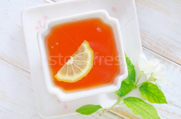 Jázmin tea tavasz természet üveg egészség Stock fotó © tycoon