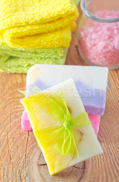 soap and salt Stock photo © tycoon
