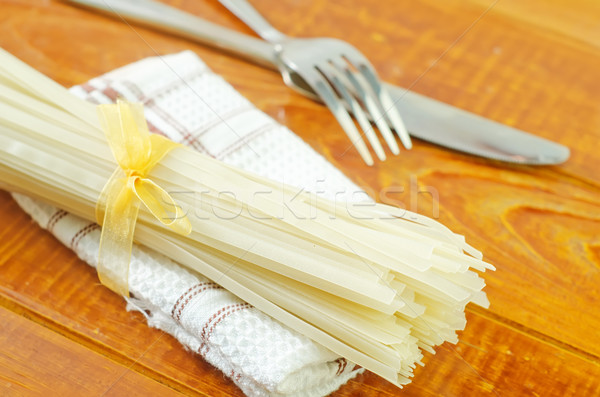raw rice noodles Stock photo © tycoon