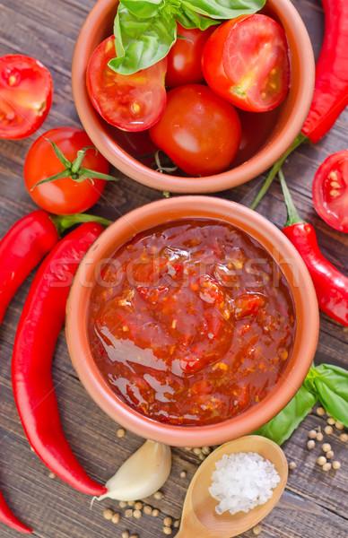 Salsa de tomate alimentos fondo cocina Asia tomate Foto stock © tycoon