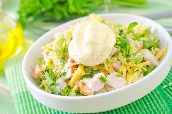 salad with chicken and cheese Stock photo © tycoon