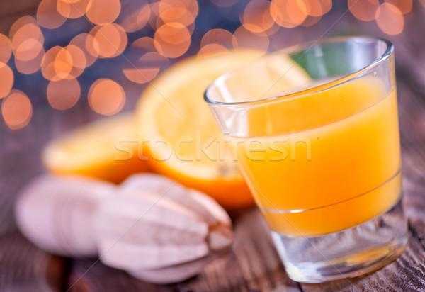 Navidad beber vidrio mesa frutas naranja Foto stock © tycoon