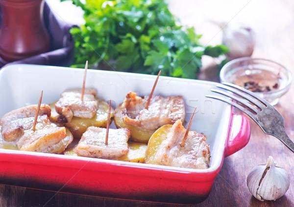 baked potato with lard Stock photo © tycoon