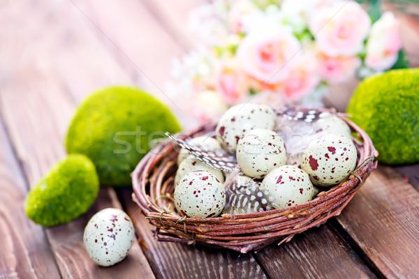 Dekoratif boyalı paskalya yumurtası renk yumurta Paskalya Stok fotoğraf © tycoon