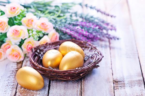 Paskalya yumurtası renk tablo Paskalya gökyüzü çiçek Stok fotoğraf © tycoon