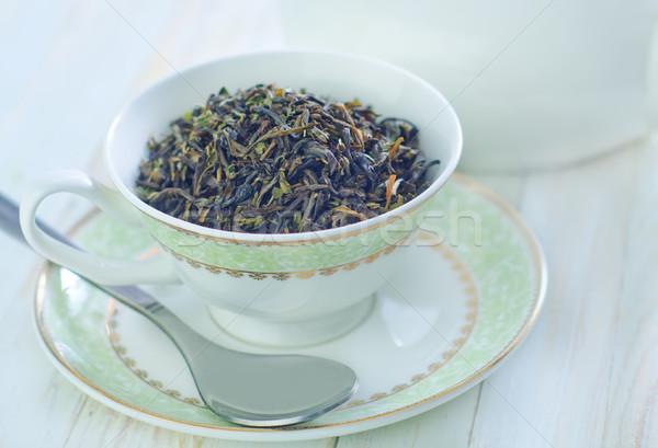 Chá verde copo água beber vintage japonês Foto stock © tycoon