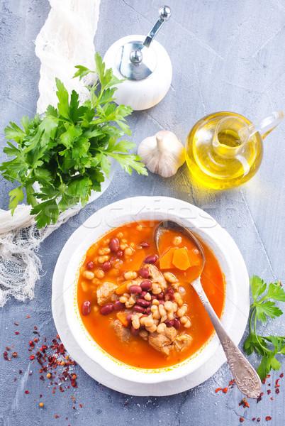 豆スープ スープ 豆 肉 ボウル 赤 ストックフォト © tycoon