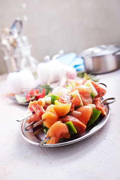 raw kebab Stock photo © tycoon