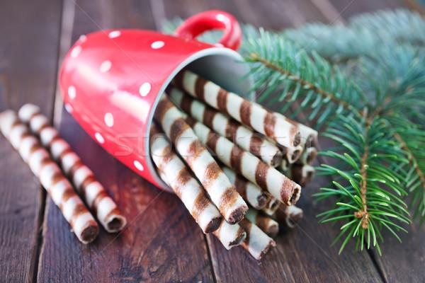 печенье Трубы Рождества Sweet чай Сток-фото © tycoon