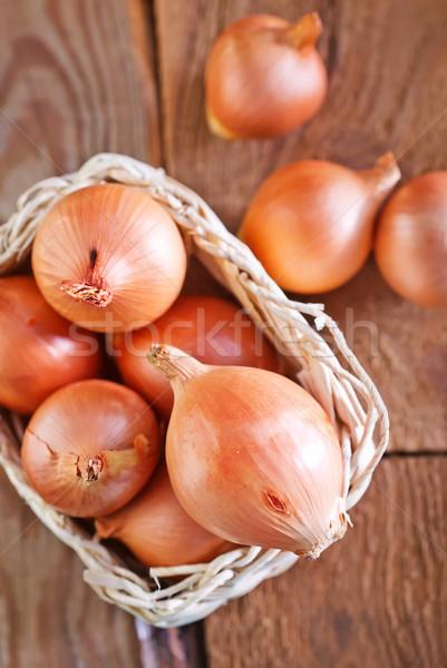 raw onion Stock photo © tycoon