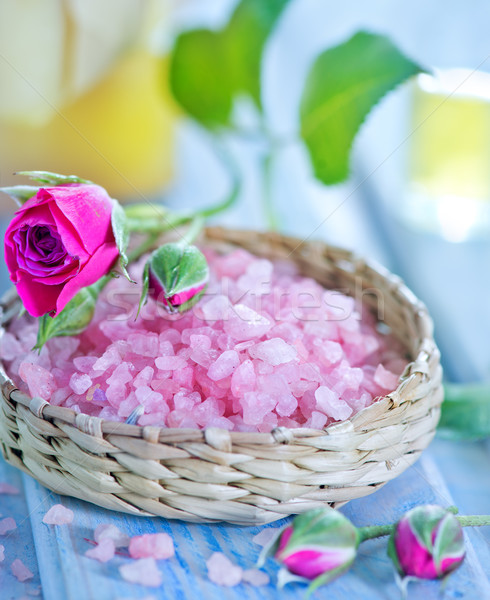 pink sea salt Stock photo © tycoon