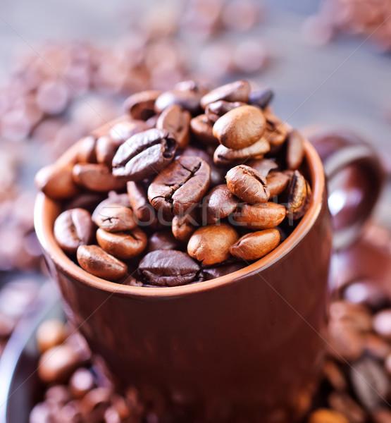 Kahve gıda arka plan plaka siyah renk Stok fotoğraf © tycoon