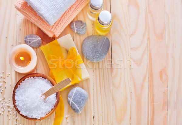 海塩 石鹸 タオル 春 バラ スパ ストックフォト © tycoon