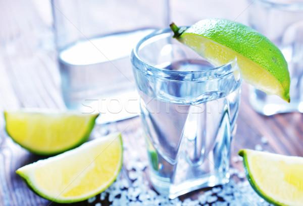 Tequila hideg friss citrus só étel Stock fotó © tycoon