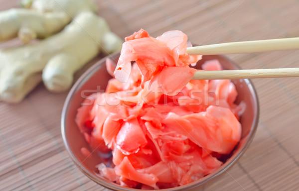 Zencefil gıda arka plan akşam yemeği kırmızı Japon Stok fotoğraf © tycoon