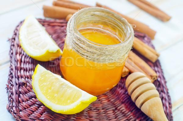 Citrom gyógyszer szín desszert szakács méz Stock fotó © tycoon