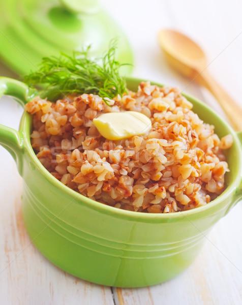 Gekookt groene kom textuur voedsel home Stockfoto © tycoon
