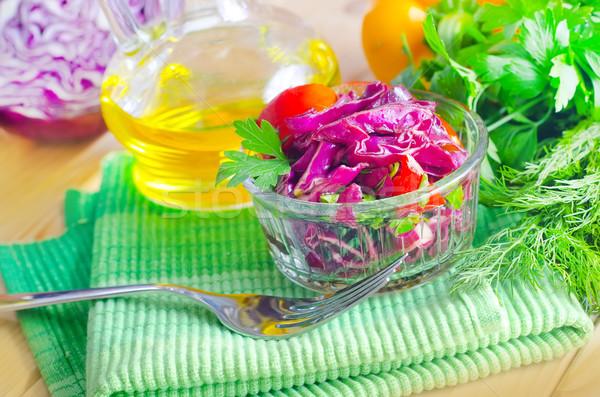 Taze salata doğa tablo akşam yemeği kırmızı Stok fotoğraf © tycoon